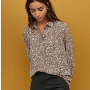 H&M Animal Print Button Down Shirt